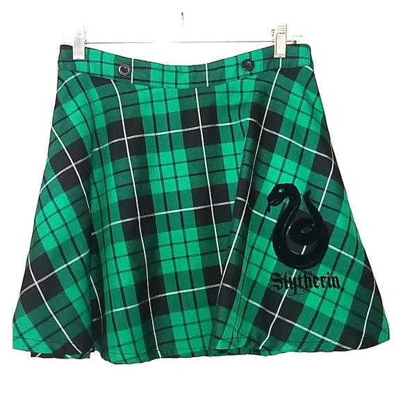 b7794a2a76 Hot Topic Skirts | Plaid Slytherin Harry Potter Skirt | Poshmark